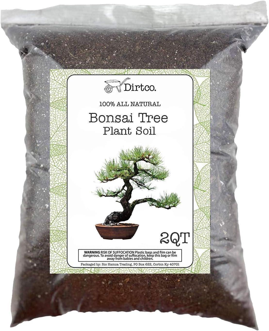 Bonsai Soil - All-Purpose Bonsai Tree Soil Mix, All-Natural Organic Material Great for All Bonsai Trees Nutrient-Rich Bonsai Soil Mixture (2qts)