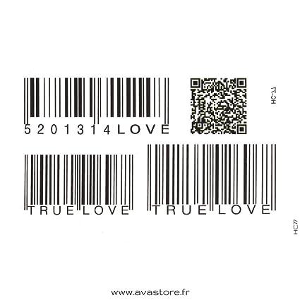 Tatuajes temporales código de barras - Tatuaje efímero código de ...