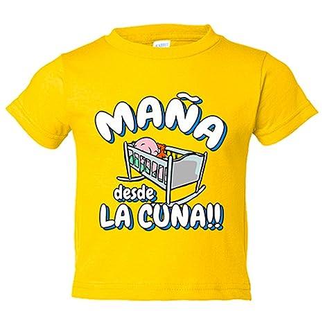 Camiseta niño Maña desde la cuna Zaragoza fútbol - Amarillo, 3-4 años