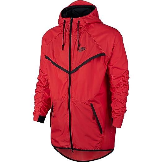 32578f36ed5c Nike Tech Hypermesh Wind Runner Athletic Men s Jacket Orange Black  826068-696 (Size