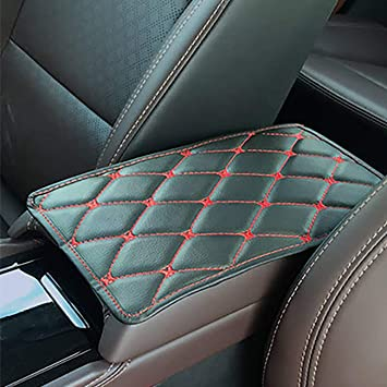 Car- Waterproof. Truck Center Console Pad, Universal Black Car Armrest Pad Car Armrest Seat Box Cover Protector for Most Vehicle SUV