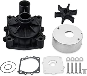 Replace 61A-W0078-A2-00 Water Pump Kit with Impeller Housing Compatible with YAMAHA Outboards V6 150 175 200 225 250 300 HP