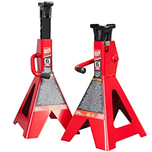 Torin Big Red Steel Jack Stands: 6 Ton Capacity, 1 Pair