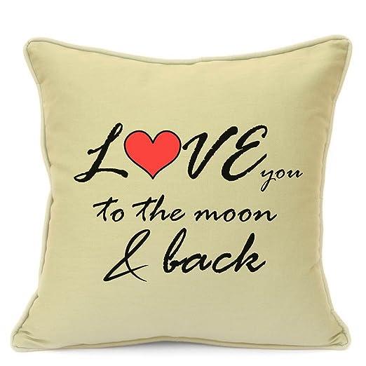 Love You To The Moon And Back cojín regalo para día de San ...