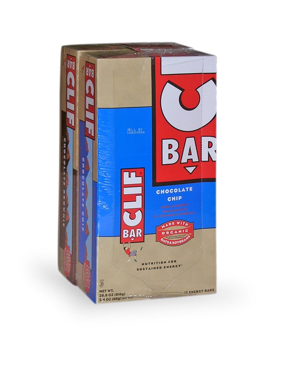 Clif Bar Energy Bar, Variety Pack - 12 Chocolate Chip And 12 Chocolate Brownie, Pack of 24