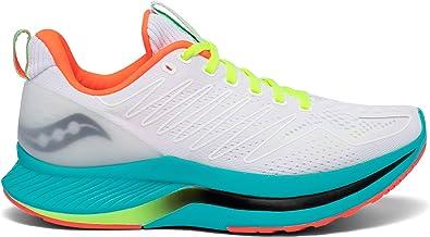 Saucony Endorphin Shift 01 Zapatilla para Correr en Carretera o Camino de Tierra Ligero con Soporte Neutral para Mujer Blanco Celeste: Amazon.es: Zapatos y complementos