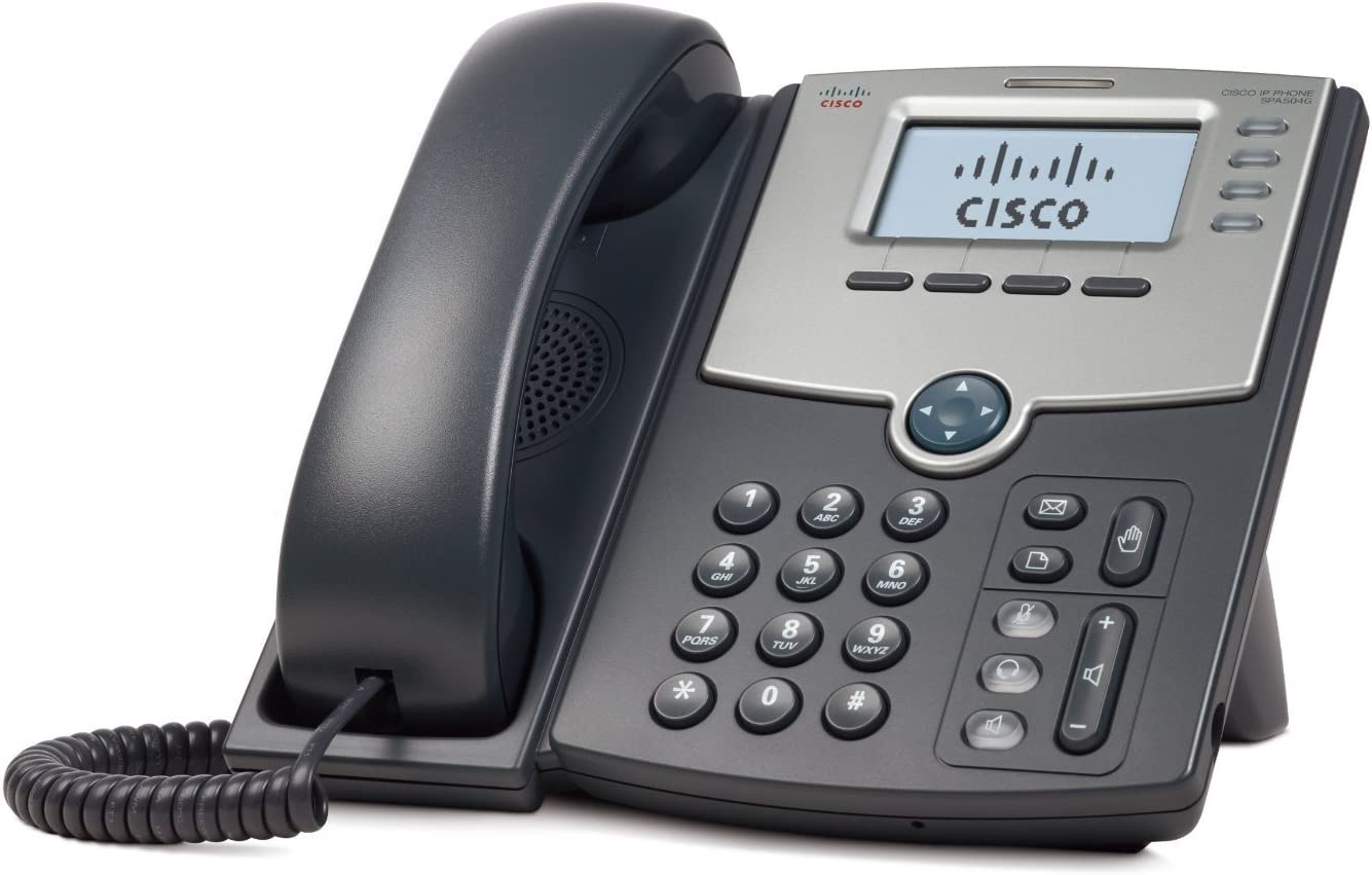 Cisco SPA504G 4 line IP Phone without power supply with 2-Port Switch PoE and LCD Display Renewed