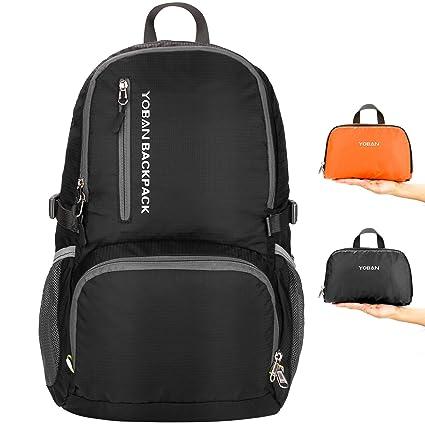 Lifeasy Hiking Backpack 35L Lightweight Packable Travel Daypack Durable  Backpacks Foldable for Women Men (Black e3536b4ec4e48