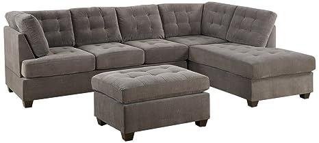 Amazon.com: Bobkona Michelson Conjunto de sofás de 3 ...