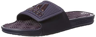 promo code a0351 4142f adidas Adissage 2.0 Logo, Chaussures de Plage  Piscine Femme, Bleu (Noble  Ink