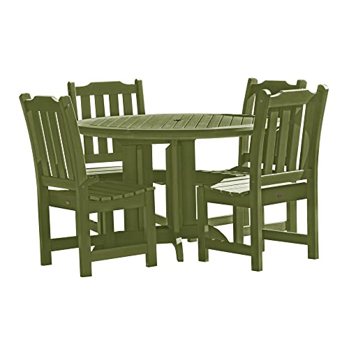 highwood AD-DNL48-SGE Lehigh 5-Piece Round Dining Set, Dried Sage, Height