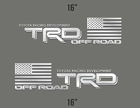 708f8b4aad2fe Creative Club Stickers x2 TRD Sticker Racing Development Decal Truck Tacoma  Tundra Off Road 4x4 Vinyl Car Emblem 16