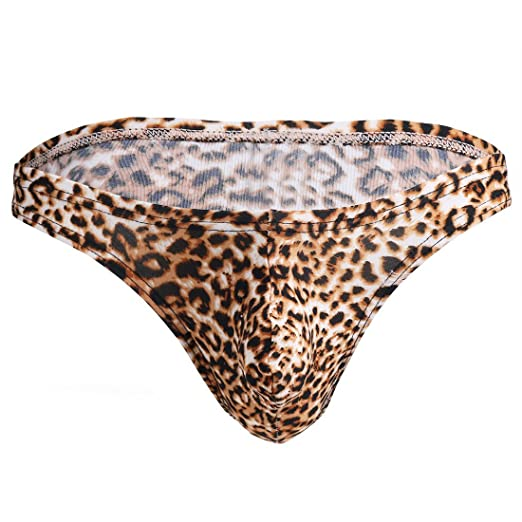 ea1ac016fcc4 FEESHOW Sexy Men Lingerie Leopard Print Briefs Bikini Bottom Underwear  Underpants at Amazon Men's Clothing store: