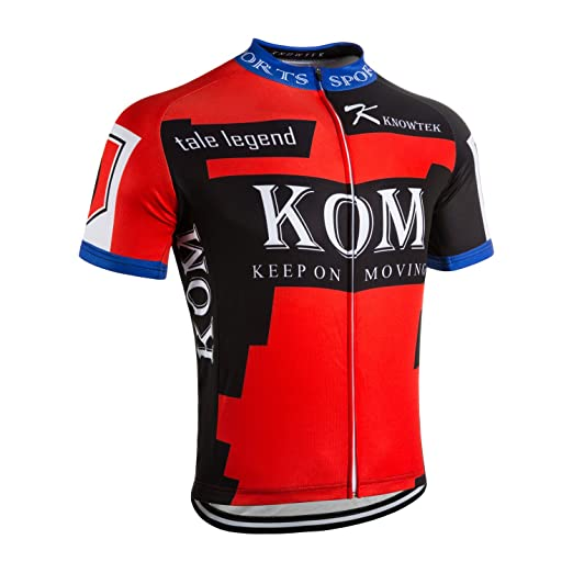 f4fb8022b Knowtek Cycling Jersey Men Bicycle Shirts Bike Clothing Biking Cycle Short  Sleeve Red