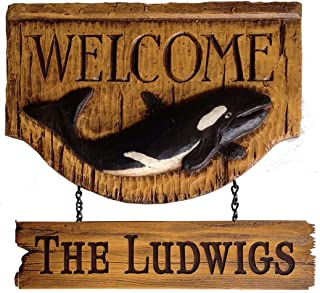 product image for Piazza Pisano Personalized Orca Welcome Sign
