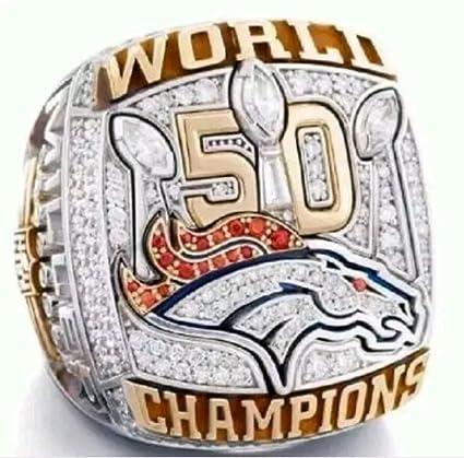 58a66d0d3 Amazon.com : crystal 1st store Denver Broncos Super Bowl 50 Championship  Ring (Von Miller) : Sports & Outdoors