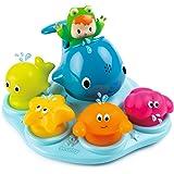 Smoby Toys, 110608, Cotoons Ile de Bain, Jouet Bain, 4 Personnages avec fonction Gicleur d'Eau,