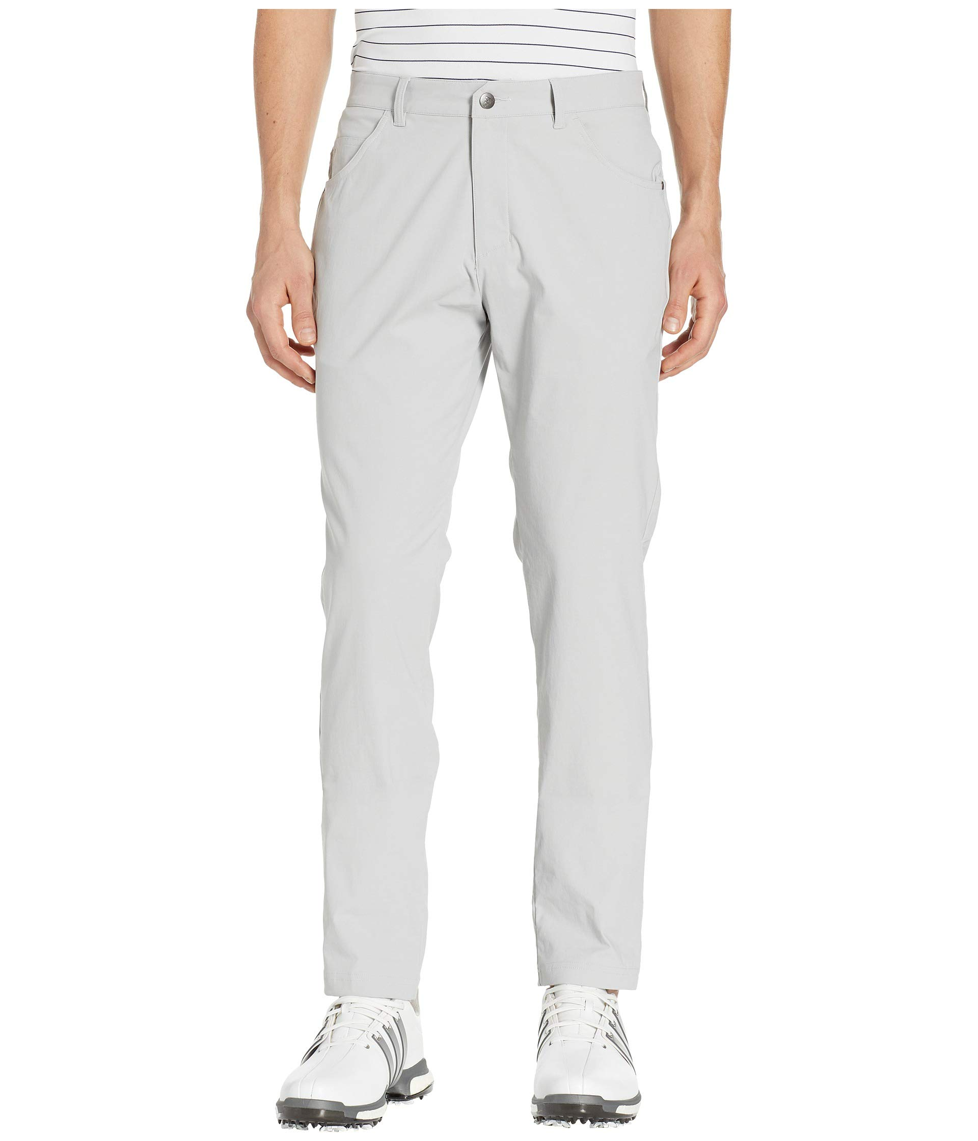 adidas Golf Adicross Beyond 18 Slim 5-Pocket Pant, Grey Two, 3030
