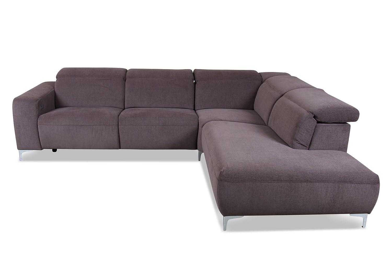 Sofa Ada Alina Megaecke 7686 Webstoff Braun Gunstig