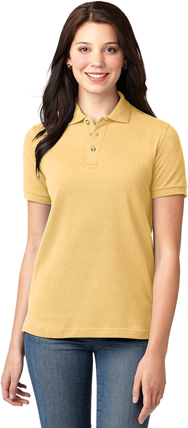 Port Authority Women\'s Pique Knit Polo 71XZ6M3sVfL