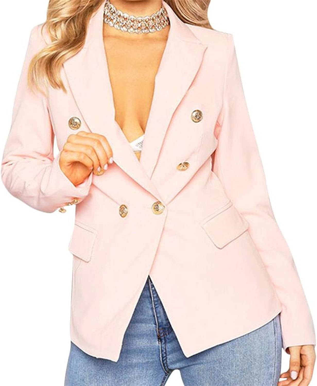 Ladies Blazers Feminino Formal Jacket Women Short Slim White Jackets Female Long-Sleeve Business Suit