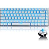 FELiCON® Gaming Mechanical Keyboard Blue Switches Keyboard Ajazz Geek AK33 Blue Backlit Metal Multimeia Ergonomic USB Wired for PC Laptop/Computer