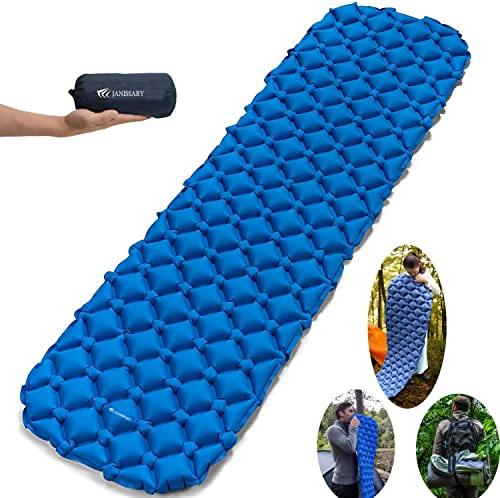 Camping Sleeping Pad, Inflatable Compact and Waterproof Lightweight Sleeping Bag for Backpacking, Hiking and Hammock