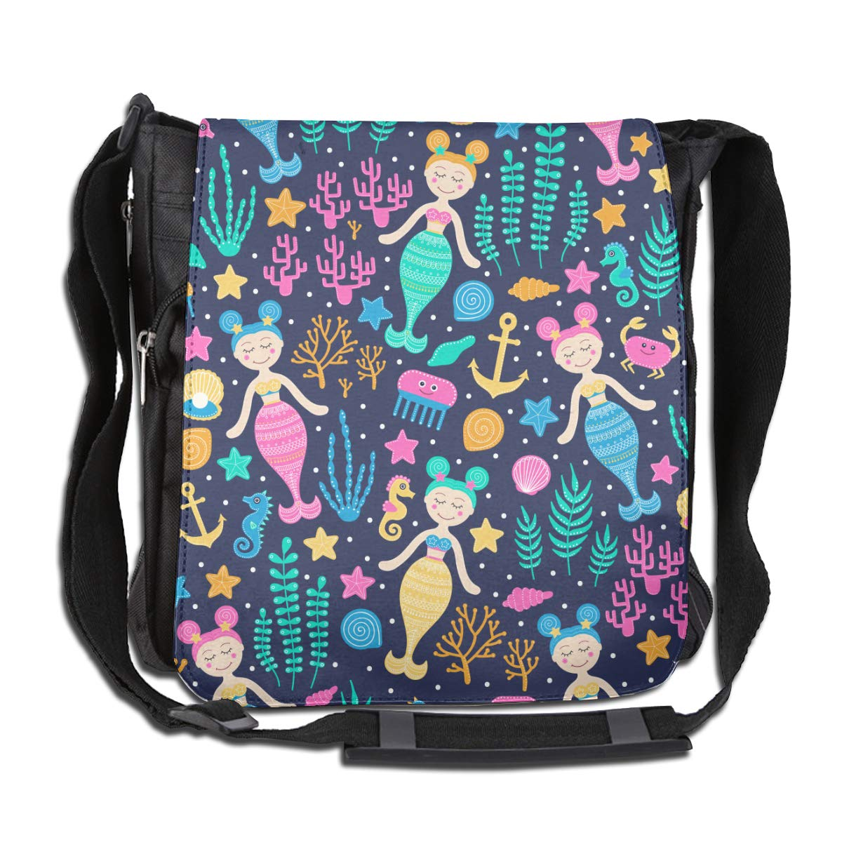 Mermaid Seahorse Fashion Diagonal Single Shoulder Workout Bag