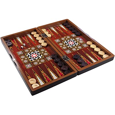 Star The 19'' Silver Backgammon Turkish Premium Board Game Set: Toys & Games