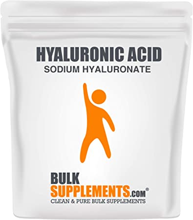 BulkSupplements.com Hyaluronic Acid (Sodium Hyaluronate) - Hyaluronic Acid Supplements - Anti Aging Supplement - Pure Hyaluronic Acid (50 Grams)