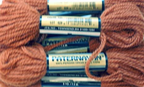 dark by Paternayan Paternayan Needlepoint 3-ply Wool Yarn-Color 721-Autumn Yellow