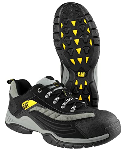 2e17f9d50af Caterpillar Cat Moor Black/Silver Lightweight Safety Trainers 7025