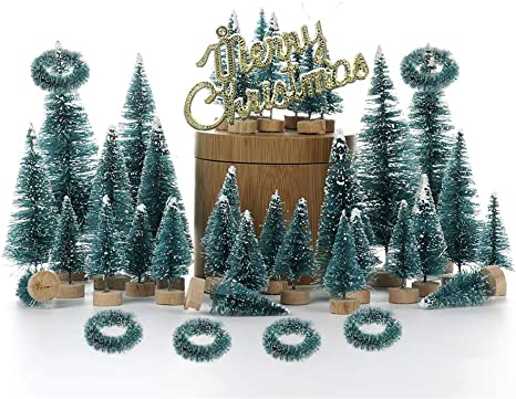 """MINIATURE DECORATED ARTIFICIAL CHRISTMAS TREE 12.5/"""" x 8.5/"""""""