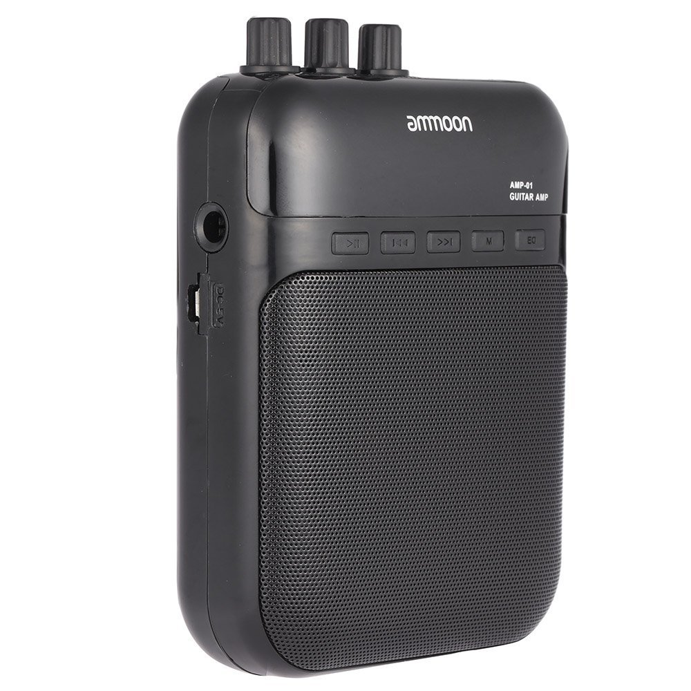 Andoer Aroma AG-03M 5W Portable Multifunction Guitar Amp Recorder Speaker Compact with TF Card Slot I439-4130