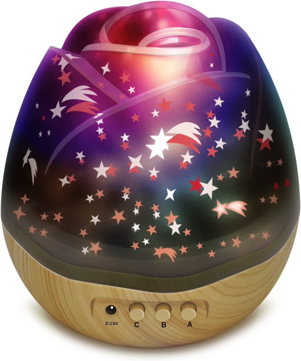 SCOPOW Star Night Light Projector with 360 Degree Rotating for Baby