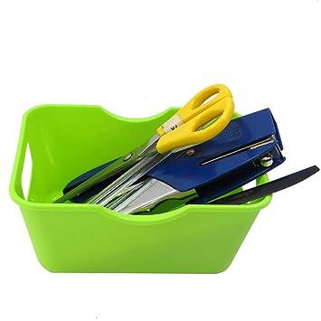 Caja de almacenamiento Organizador escritorio plástico ergonómico ...