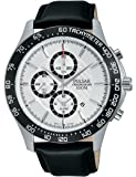 Pulsar Herren-Armbanduhr Chronograph Quarz Leder PF3A09X1