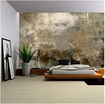 wall26 Removable Wall Mural Brown and Green Abstract Art Painting Self-adhesive Large Wallpaper