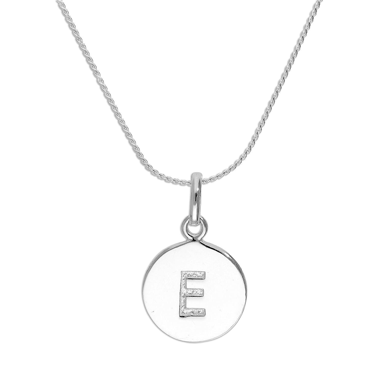 Collier et Pendentif Lettre de l'Alphabet Incolore en Argent 925/1000 - 41 à 56cm jewellerybox HAR-1147-16
