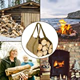 Canvas Firewood Log Carrier, Fireplace Canvas Log