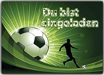 Fußball Einladungskarten Kindergeburtstag Fussball Einladungen Geburtstag  Kinder (8 Stück)