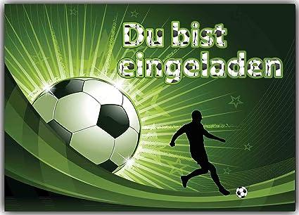 Balón de fútbol Tarjetas de invitación Niños Cumpleaños ...