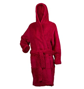 Slenderella Ladies Soft Waffle Fleece Hooded Dressing Gown Ladies Wrap  Around Bath Robe S - XL  Amazon.co.uk  Clothing 519e2ed08