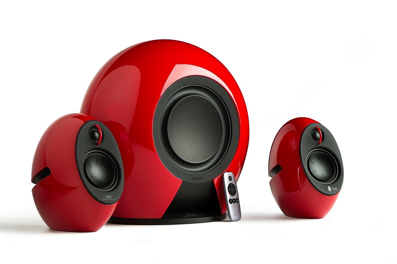 Edifier Luna Eclipse RD Sistema Diffusori 2.0 con Bluetooth, Rosso E25/RED amplificatori audio casse casseamplificate cassebluetooth hifi lettoricd