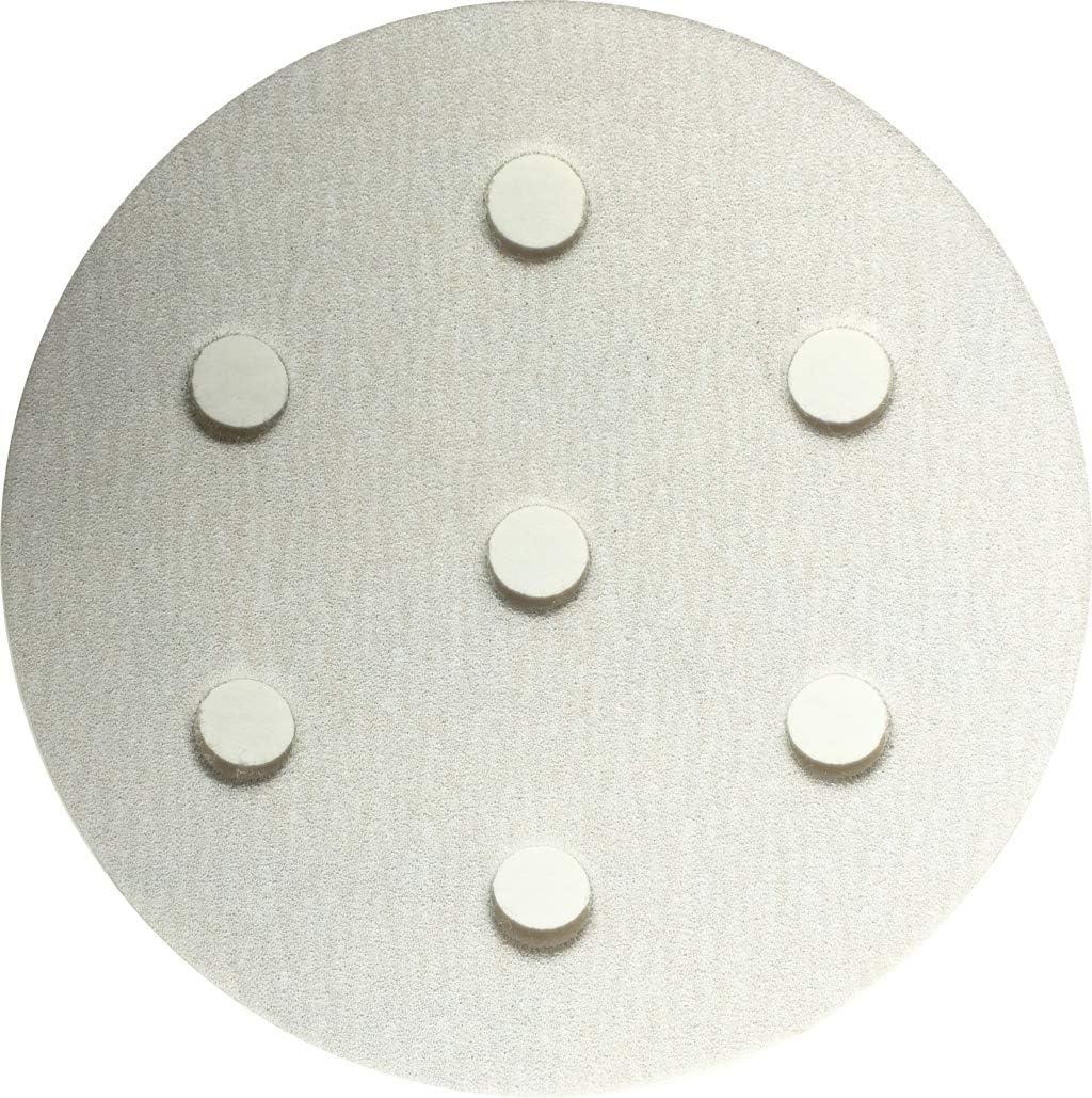 Box of 50 7 Holes 3.5 Inch Hook /& Loop Sanding Discs For Festool #535-7320 320 Grit