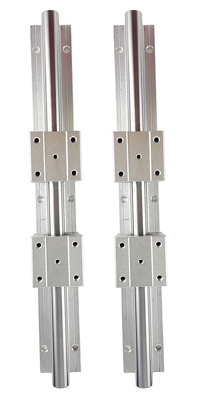 テンハイTEN-HIGH リニアガイドレール リニアウェイ CNC部品 スライドプロック付き スライダーブロック付き SBR16+SBR16UU 直径16mm 長さ1050mm 2組1セットB0749N49R71050mm