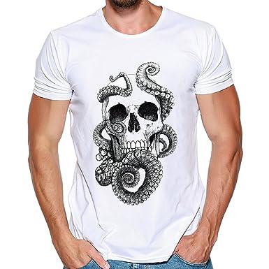 Cebbay Camisetas Hombre Estampado de Verano de Ocio Camisas de ...