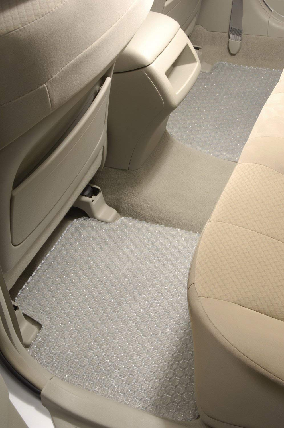 Intro-Tech JA-143F-RT-C HexoMats Front Row 2 pc Clear Custom Fit Auto Floor Mats for Select Jaguar XJ-8L Models Rubber-Like Compound