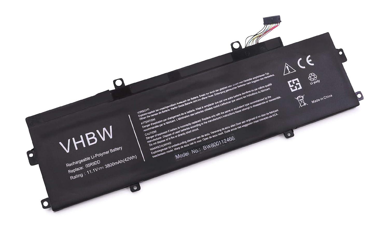 vhbw Li-Polymer batería 3800mAh (11.1V) para Notebook Notebook Notebook Laptop DELL Chromebook 11 (3120) 2015, 11 (3120) Ultrabook, 11 3120, 11 P22T por 05R9DD, 5R9DD. b25204