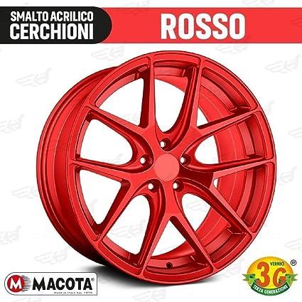 lgvelettronicasrl Pintura Rojo Metalizado ruedas Spray Macota esmalte especial para llantas – COD. 05696